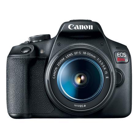 Câmera Digital Canon Eos Rebel Preto 24.1mp - T7 | 18-55mm