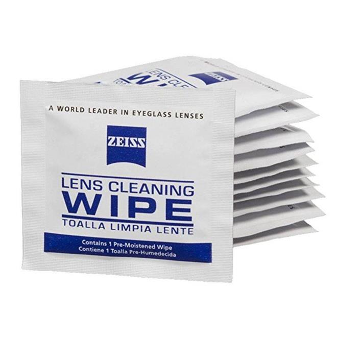 91e95204f17e4 Caixa com 50 unidades. O produto Zeiss Lens Wipes proporciona a limpeza  ideal para suas lentes ...