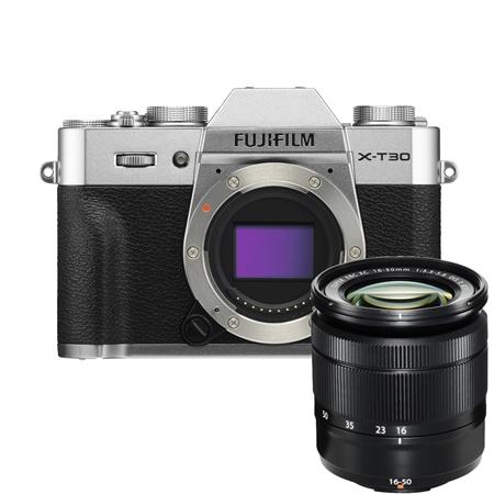Câmera Digital Fujifilm Mirrorless Corpo Prata 26.0mp - X-t30