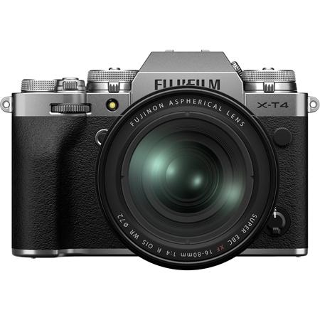 Câmera Digital Fujifilm Prata 26.0mp - X-t4 | 16-80mm